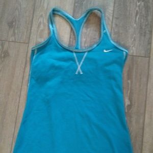 Nike dri fit womans blue work out tank